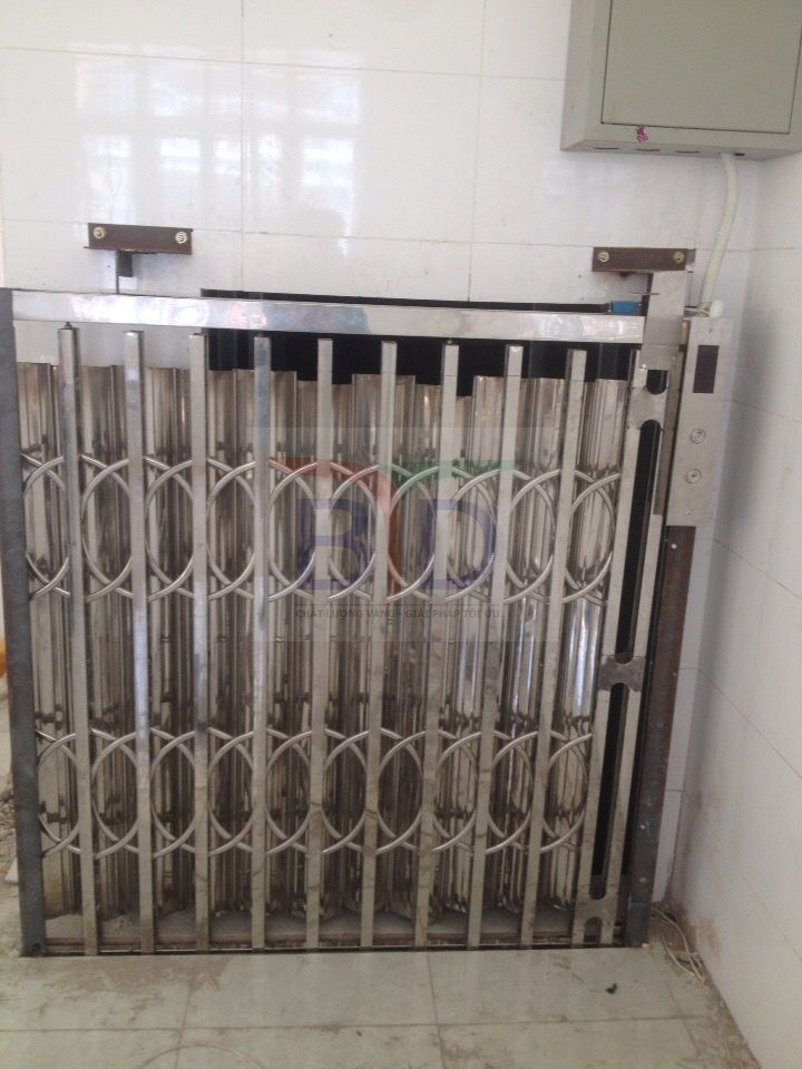 Lắp đặt thang tời thực phẩm 300 kg tại trường trung học Văn Quán