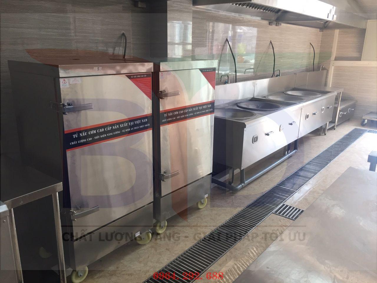Hệ thống tủ nấu cơm cho bếp ăn nhân viên