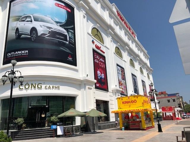 Hệ thống quầy bar Cà Phê Cộng Tại VinCom Plaza- Thái Nguyên