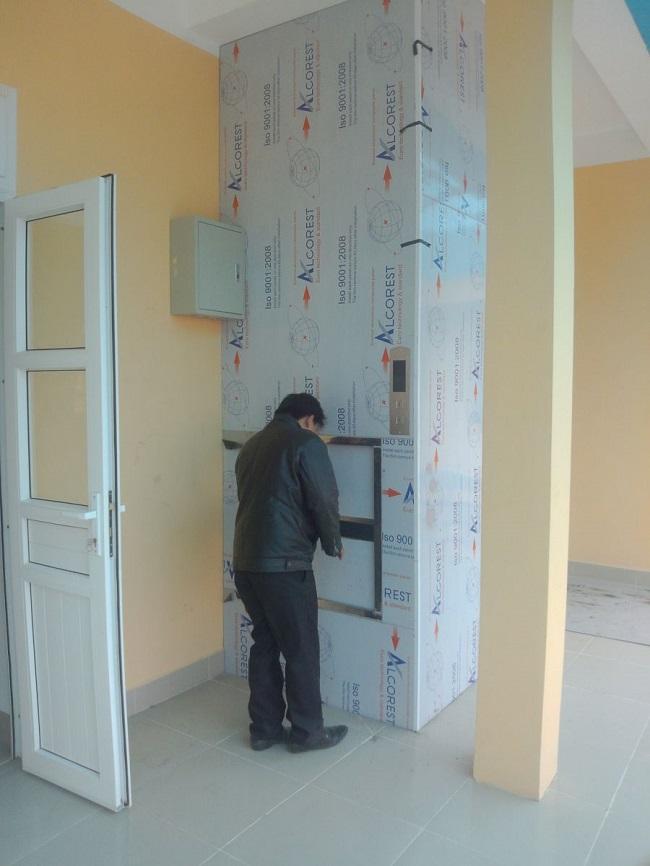 Cung cấp thang thực phẩm tại trường mầm non Hoa Hồng_ Cầu Giấy, HN