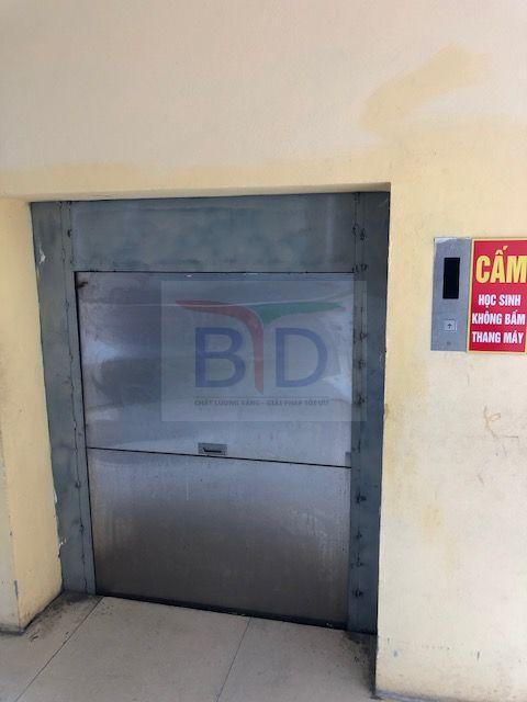 Lắp đặt thang tời thực phẩm 150kg tại trường tiểu học Phú Lương I