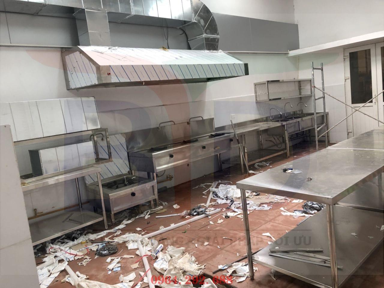 Setup khu bếp công nghiệp chuẩn cho nhà hàng ăn nhanh Linh Đàm