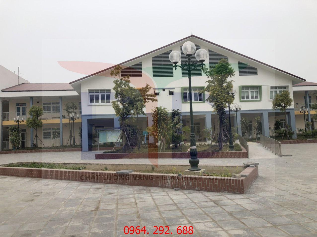 Lắp đặt hệ thống bếp công nghiệp trường mầm non Hải Bối Đông Anh Hà Nội