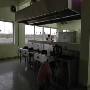 Khu bếp ăn chuyên gia phục vụ cho hơn 300 suất ăn