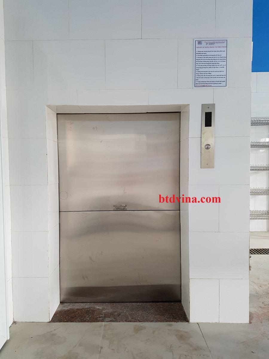 Lắp đặt thang tải thực phẩm 200kg ở trung tâm dưỡng lão Diên Hồng