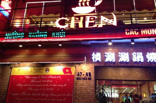 Thang tải thực phẩm cho nhà hàng Chen Hà Nội