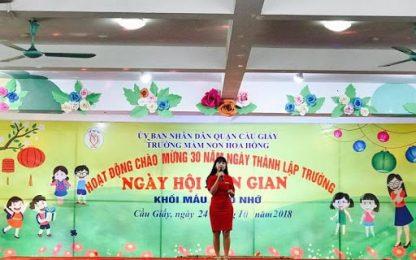 Lắp đặt thang tời thực phẩm tại trường mầm non Hoa Hồng- Cầu Giấy