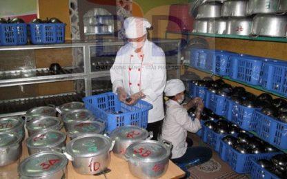 Lắp đặt hệ thống bếp công nghiệp tại trường mầm non Hoa Hồng