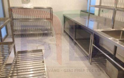 Bếp công nghiệp dùng trong trường mầm non Vương Quốc Xitrum