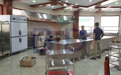 Lắp đặt thiết bị bếp tại kho bạc nhà nước Việt Nam- Hà Nội