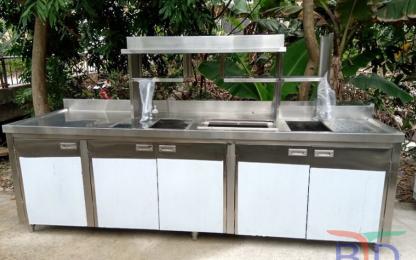 Báo giá quầy pha chế trà sữa INOX mới nhất 9/2021
